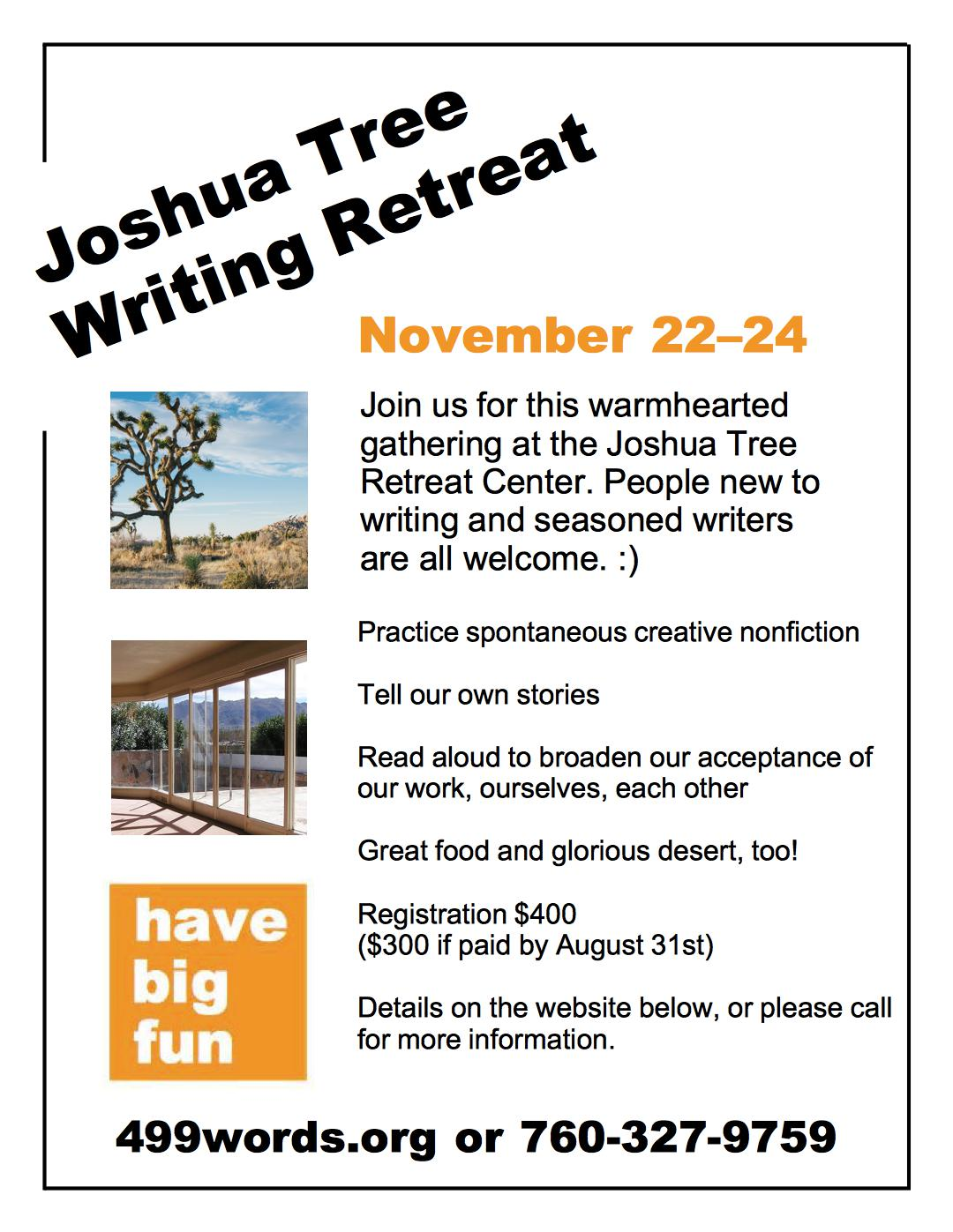 Picture of flyer about retreat (all details on page below)