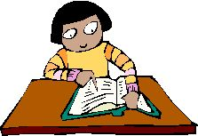 a students reading and pointing to the page
